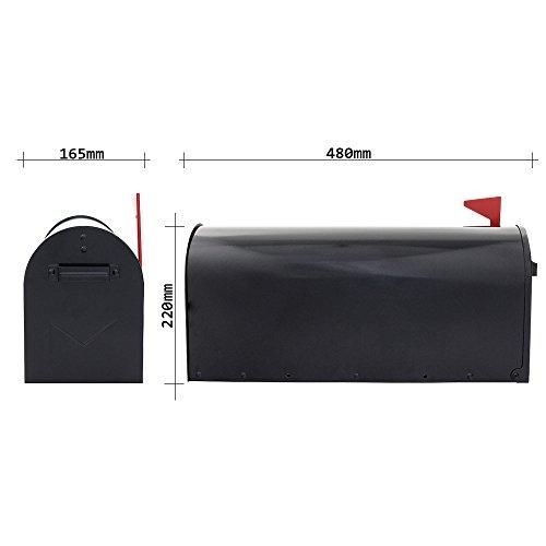 Profirst Mail PM 630 Briefkasten, Amerikanischer Stil aus verzinktem Stahlblech ,pulverbeschichtet ,inklusive Montagematerial - 4