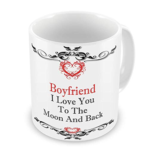 Boyfriend I Love You To The Moon And Back Gift Mug