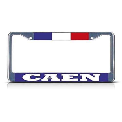 Moon France Caen Metall-Kennzeichenrahmen mit Zwei Löchern, ideal für Herren und Damen, Auto-Garadge