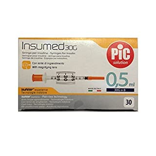 Insulin Syringes 0.5 ml INSUMED for Insulin Syringe 0.5ml 30 g pieces by Pic