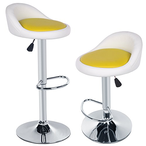 cravog-2pcs-synthetic-leather-adjustable-rotating-height-bar-stool-chair-white-out-and-yellow-inside