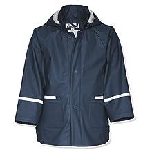 Playshoes Boy's Waterproof Raincoat, Blue (Navy), 9-10 Years (140)