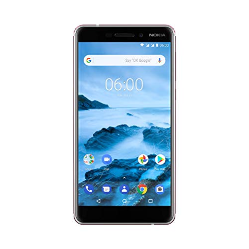 Nokia 6.1 Smartphone (13,97 cm (5,5 Zoll) IPS Full-HD Display, Dual Sim, 32GB ROM, 3GB RAM, 16MP Rückkamera, 8MP Frontkamera, Android 8 Oreo, inkl. Displayschutzfolie) weiß/eisen, version 2018
