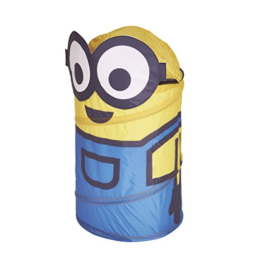 worlds-apart-865584-rangement-pop-up-forme-minion-polyester-jaune-40-x-40-x-75-cm