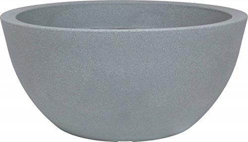 PP Plastic 166-40-42 Pflanzschale Padua, Stony Grau, durchmesser 39,5xH18 cm