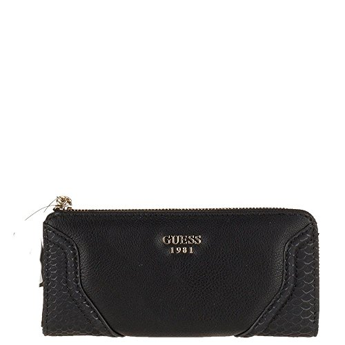 GUESS - Geldbörse GEORGIE SLG Slim Zip Wallet black, SWPY653352-BLA (Wallet Slim Zip)