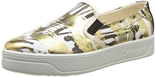 Desigual Shoes Donna Terrenal basse Sneaker Gold 8010 Oro 88xrpqwBn