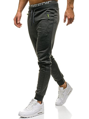 BOLF Hombre Pantalones Jogger Must JX9292 Gris Grafito