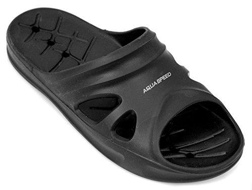 Pantofole Velocità Slittamento Nero Aqua Adulti Di Unico Bambini E Piscina Pantofole asflorida Scarpe Per Leggero fpETq8