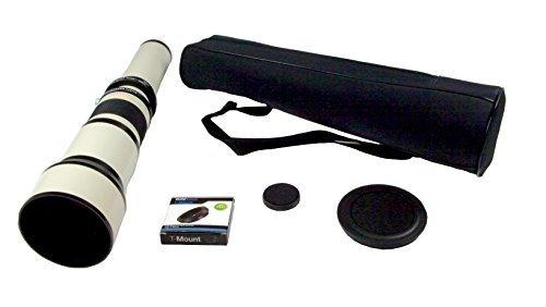 Exakta 650mm-1300mm f/8 Telephoto Zoom Lens for Nikon D90, D80, D70, D60, D50, D40x, D40, D800, D700, D600, D300s, D300, D200, D100, D7000, D5200, D5100, and all Nikon Digital DSLR Cameras