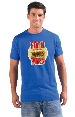 Hamburger modern style Fast Food T-Shirt #2 königsblau XXL