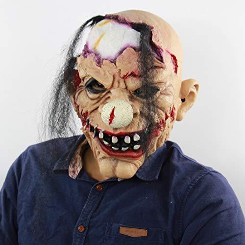 QJXF Halloween-Maske Widerlich Beängstigend Zombie-Teufel Böse Party Cosplay Kostüm, Lustige Beängstigende Zombie-Clown-Maske Für Erwachsene