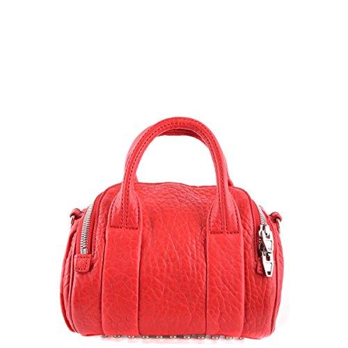 Alexander Wang Leder Handtasche Damen Tasche Bag mini rockie rhodium Rot