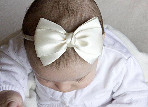 Golden Beam-Emma Satin Schleife Baby Haarband handgefertigt-Blume, Mädchen Haarreifen-Baby zu Kopfband für Erwachsene -