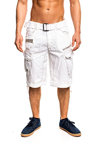 Geographical Norway Herren Cargo Short People Weiß