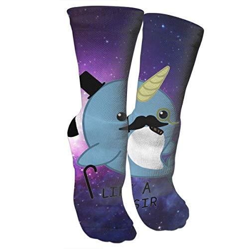 ouyjian Fancy Narwhal Graduated Compression Socks for Men & Women Best Stockings for Nurses,Travel,Running,Maternity Pregnancy -