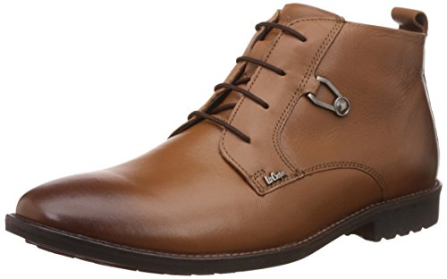 Lee Cooper Men's Tan Leather Formal Shoes - 9 UK/India (43 EU)