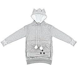 Kangaroo Pocket Hold Your Pet Cat Dog Hoodie Sweatshirt Coat