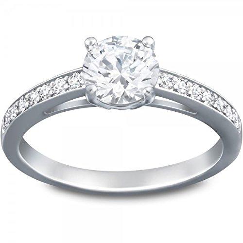 Swarovski Damen-Ring Metall Swarovski Kristalle silber, 60 (19.1)