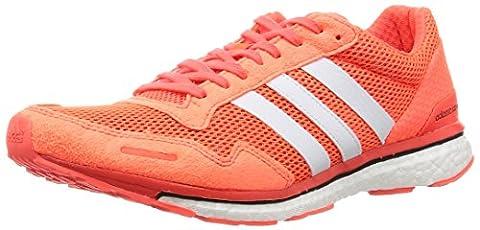 adidas Herren Adizero Adios 3 Laufschuhe, Orange (Solar Red/Footwear White/Core Black), 42 2/3 EU