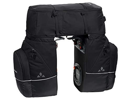 Vaude Karakorum, Dreifachtasche zum Radfahren Hinterradtaschen, Black Uni, One Size