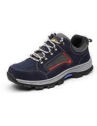 Aizeroth-UK Unisex Hombre Mujer Zapatillas de Seguridad con Punta de Acero Antideslizante Transpirable S3 Zapatos de Trabajo Calzado…