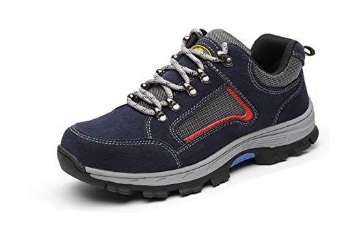 Aizeroth-UK Unisex Hombre Mujer Zapatillas de Seguridad con Punta de Acero Antideslizante Transpirable S3 Zapatos de Trabajo Calzado de Trabajo Deportivos Botas de Protección Industria Construcción