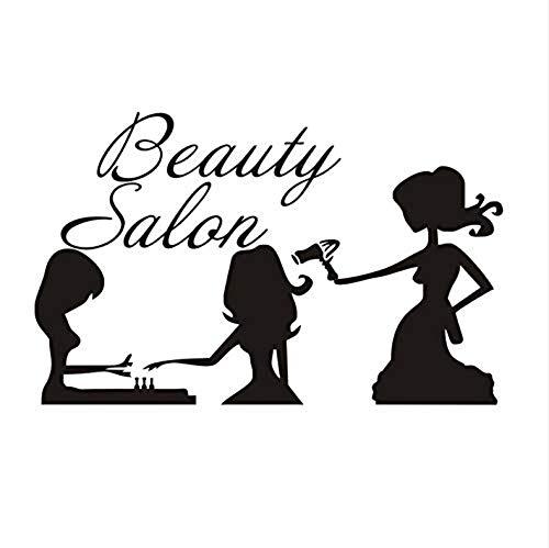 Wandaufkleber Tapete Art Deco Wandtattoo Salon Poster Mädchen Nagelpflege Haarpflege Schönheit Applique Mode Vinyl Abnehmbare Diy Fenster Dekoration Aufkleber 69X43Cm