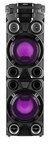 MEDION X67015 Party-Soundsystem mit Bluetooth 2.1 (Kompaktanlage, 1000 Watt, 2 x 100 Watt RMS, PLL UKW, 2X USB, Aux, SD-Kartenleser, Mikrofonanschluss) Schwarz