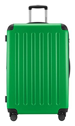 HAUPTSTADTKOFFER® 128 Liter (ca. 75 x 47 x 35 cm) · Hartschalenkoffer · Modell: SPREE HK-1203 · TSA Schloss · KOFFERANHÄNGER · Farbe: APFELGRÜN -