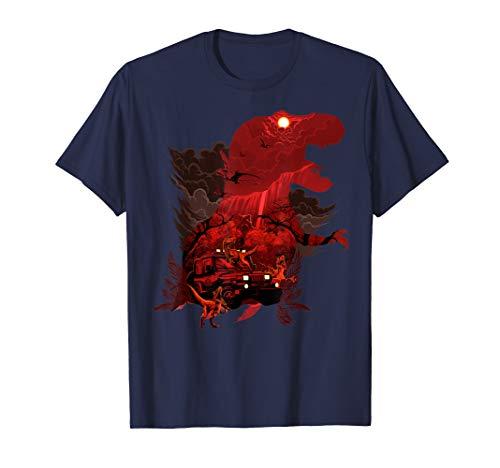 Jurassic Park T-Rex Red Safari Collage  T-Shirt