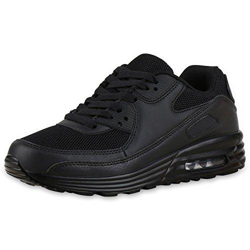 5671a3c9e46e5c Japado Damen Schuhe Laufschuhe Fitness Sportschuhe Viele Farben   Größen  Schwarz Nero 42