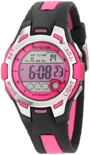 armitron-sport-womens-45-7030pnk-pink-and-black-digital-watch