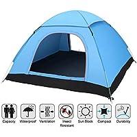 Angker Pop Tente, tente Pop Up instantané, grande 3–4personnes Homme, Sac à dos tentes, portable automatique tentes protection UV pour camping Plage Jardin Famille, ventilé et durable 200x 200x 125cm (Bleu)