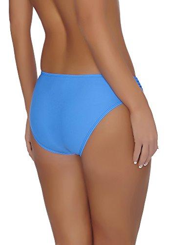 aQuarilla Damen Bikini Slip AQ37 Dunkelblau