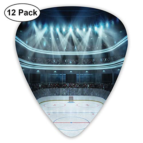 act Art Colorful Designs,Photo Of A Sports Arena Full Of People Fans Audience Tournament Championship Match,Unique Guitar Gift,For Bass Electric & Acoustic Guitars-12 Pack ()