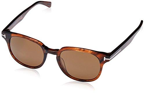 Tom Ford Unisex-Erwachsene FT0399 48B 50 Sonnenbrille, Braun (Marrone Scuro Luc/Fumo Grad),