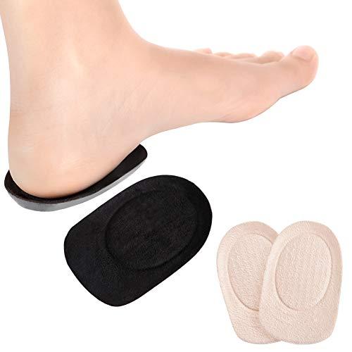 Haofy cuscinetti per scarpe, 7mm solette per tallonite in silicone per alleviare il dolore, fascite plantare, spina calcaneare e borsite del tallone, 2 coppie soletta in gel per uomo e donna (l)