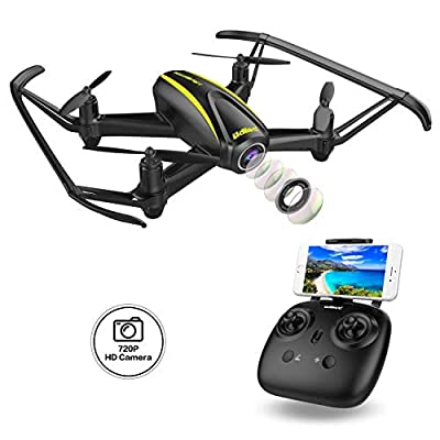 U31W Navigator RC Drone / WIFI FPV Quadcopter with 120 Degree Wide-Angle 720P HD Camera - Altitude Hold, Headless Mode, One Button Take Off / Landing /Emergency Stop All Included for Beginners.