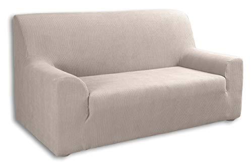 Tural – Beige Elastischer Sofabezug 3 Sitzer (180-230cm) Valeta. Sofa-Überwürfe Sesselbezug Sesselhusse Sofaüberwurf. Erhältlich in verschiedenen Farben und Größen.