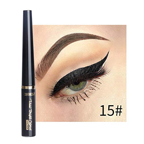 Cooljun Eyeliner Liquide Pigments métalliques yeux Smoky Waterproof Eyeshadow Glitter Eyeliner liquide & crayon fard à paupières (O)