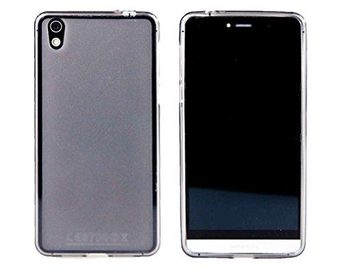 caseroxx Handy Hülle/Tasche Medion Life X5020 MD 99367 / MD 99462, TPU-Hülle in schwarz-transparent + Displayschutzfolie