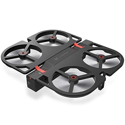 Drone con fotocamera Mini Quadcopter con videocamera Live Video Controllo APP Altitudine pieghevole Modalità di attesa Selfie Drone RC Helicopter RTF Best Drone per bambini Adulti,Black-Package 2