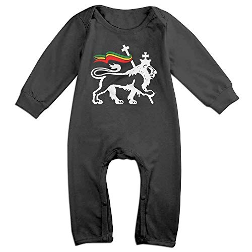 s Baby-Jungen-Mädchen-Bodysuit-Lange Hülse, Rasta Lion of Judah Long Sleeves Onesie Rompers Baby Kids ()