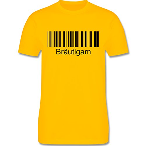 JGA Junggesellenabschied - Bräutigam - Barcode - Herren Premium T-Shirt Gelb
