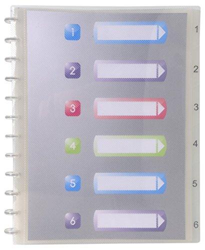 Exacompta - Réf 86320E - Un Protège Document Amovible à Anneaux en Polypro Rigide crystal 7/10ème A4 60 Vues Incolore