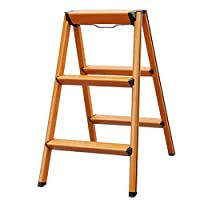 YXNN Aluminium Folding Step Up Ladder Stool With Non-Slip Treads And Security Locks - Ideal Multipurpose Work Platform For Decorating/Repair (Size : 3 steps-39x39.5x44cm)
