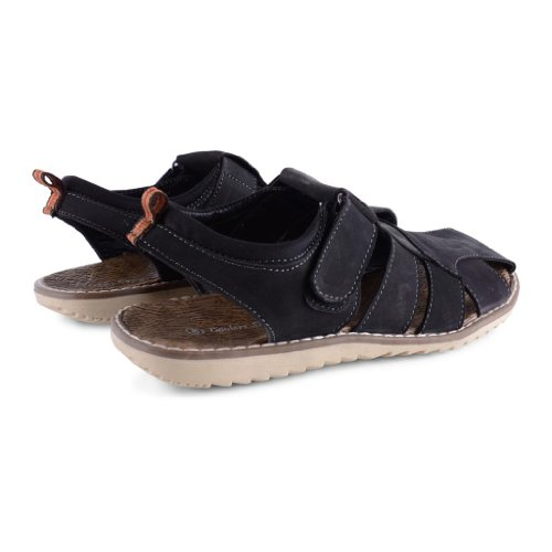 Footwear Sensation , Herren Sandalen Black Slingback Mule Sandals