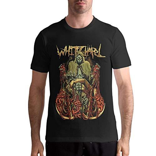 Quitelike Whitechapel T Shirts Men's Tops Short Sleeved Round Neck Cotton Tee Tops Shirt Männer T-Shirts Whitechapel T-shirts