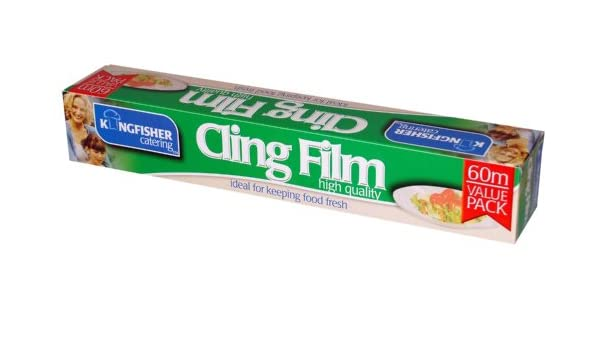 Roll 30 cm x 60 m and 30 cm x 30 m WRAPOK 1 x Cling Film Catering Plastic Wrap and 1 x Baking Parchment Paper Combination Suit for Kitchen